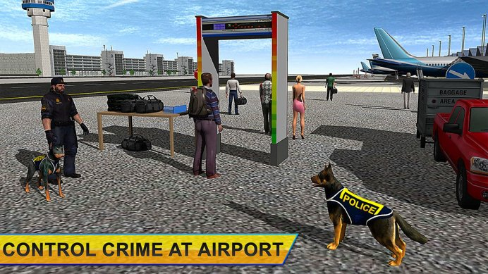 Police Dog Airport Chase